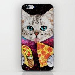 Cat Eat Pizza iPhone Skin