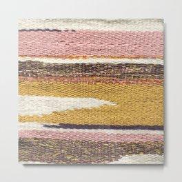 Pink Weaving Metal Print