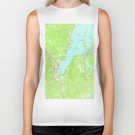 Vintage Map of Lake George New York (1966) 2 Biker Tank