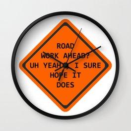 Road Work Ahead Wall Clock
