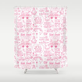 Obscenities Print Shower Curtain