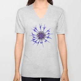 Thin blue flames in a sea of green Unisex V-Neck