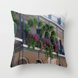 New Orleans Florals Throw Pillow