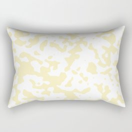 Spots - White and Blond Yellow Rectangular Pillow