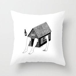 Sunday Chilling Throw Pillow