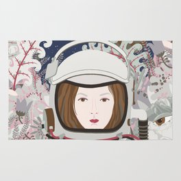 Lady Astronaut Rug