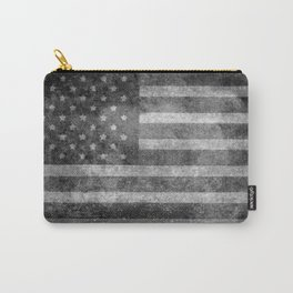 US flag, Old Glory in black & white Carry-All Pouch