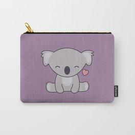 Kawaii Cute Koala Bear With Heart Carry-All Pouch