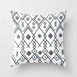 boucherouite - vintage Moroccan pattern Throw Pillow