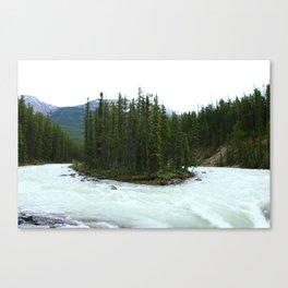 Sunwapta Falls - Jasper National Park Canvas Print