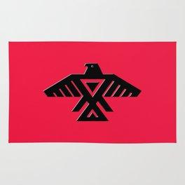 Thunderbird flag - Red background HQ image Rug