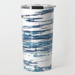 Streaky Blue Water Travel Mug