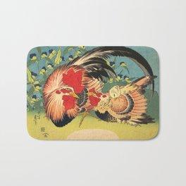 Rooster, Hen and Chicken Bath Mat