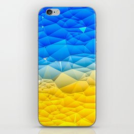 Sunshine and Blue Sky Quilted Abstract iPhone Skin
