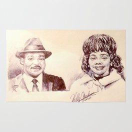 Martin Luther King & Coretta Scott King Rug