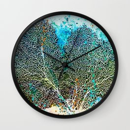 Ocean Sea Fan by Barbara Chichester Paintographer Wall Clock