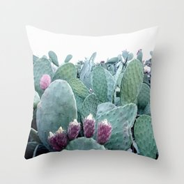 Mint Cactus Throw Pillow