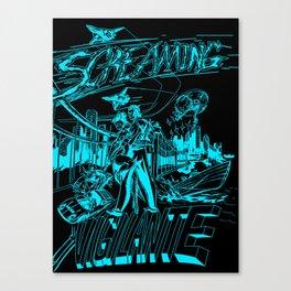 Screaming Vigilante Canvas Print