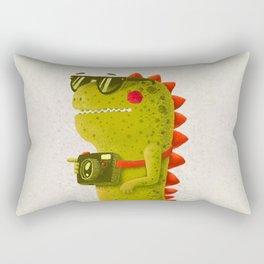 Dino touristo (olive) Rectangular Pillow