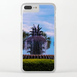 Pineapple Fountain Clear iPhone Case