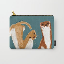 Funny Weasel ( Mustela nivalis ) Carry-All Pouch