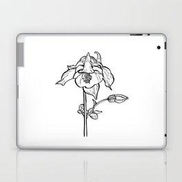 Garden Flower Ink Drawing  Laptop & iPad Skin