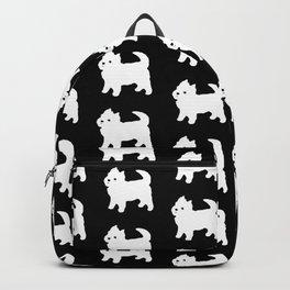 Westie Dog Pattern Backpack
