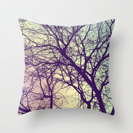 A Network of Tree Branches Throw Pillow