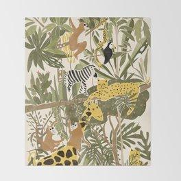 Th Jungle Life Throw Blanket