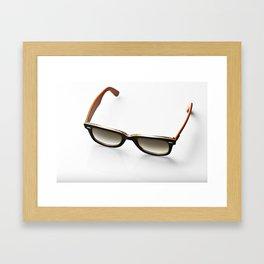 Eyewear Orange Framed Art Print