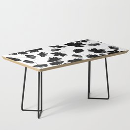 Falling Autumn Leaves in Black and White Coffee Table