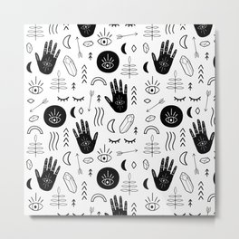 Witchy Patterns Metal Print