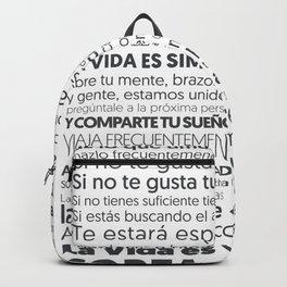 Es tu vida by Jota Torcida B&W Backpack