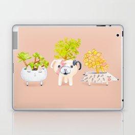 Kawaii dog cat hedgehog succulents Laptop & iPad Skin