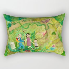 Family Monteverde Cloud Forest Walk Rectangular Pillow
