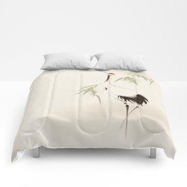 Oriental Red-Crowned Crane 001 Comforters