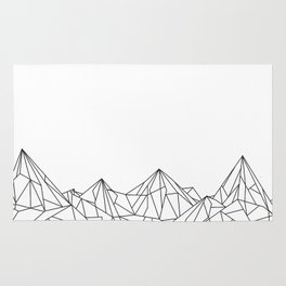 Night Court Mountain Design Rug