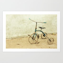 Old Rickety Tricycle Art Print