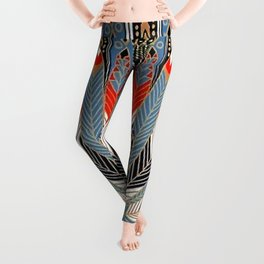 "Art Deco Egyptian Design ""The Nile"" Leggings"