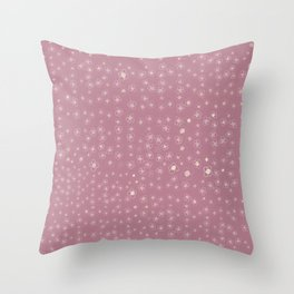 Sunset in Odense XI Hand drawn doodle floral Throw Pillow