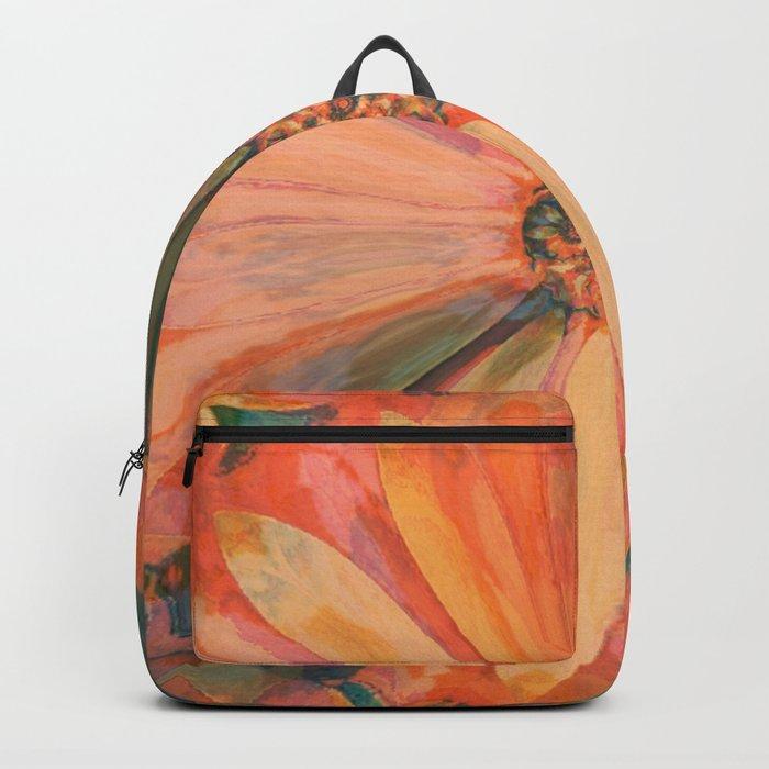 Abstract Autumn Daisy Backpack