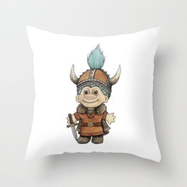 Vikingtroll Throw Pillow