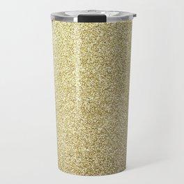 gold glitter Travel Mug
