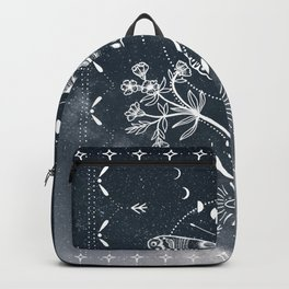 Magical Moth White Backpack