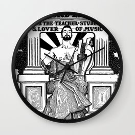 The Bottom Forty Record Label Wall Clock