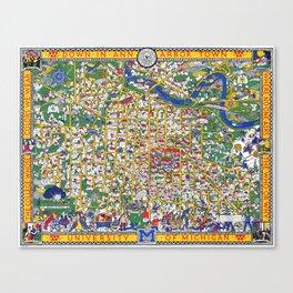 ANN ARBOR University map MICHIGAN dorm Canvas Print