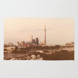 ~ Vintage ~ Toronto Skyline in the 80's Rug