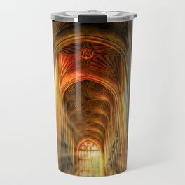 Bath Abbey Sun Rays Art Travel Mug