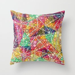 Acid Chemtrail Bubbles Throw Pillow