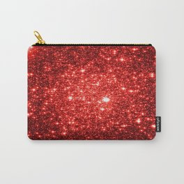 GalaXy : Red Glitter Sparkle Carry-All Pouch
